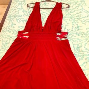 Red goddess dress - Express - never worn